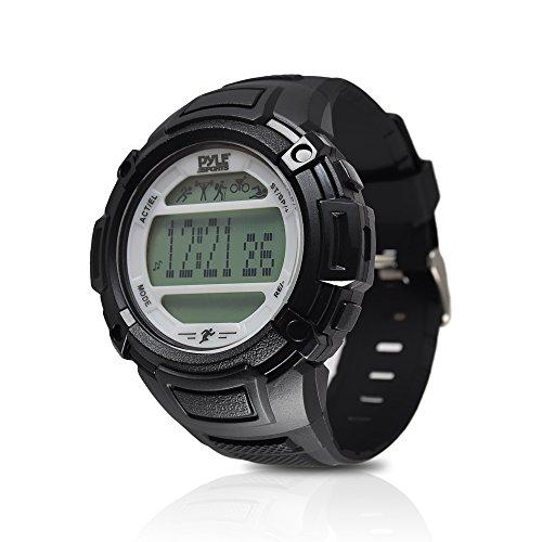 Digital Multifunction Sports Wrist Watch - Smart Fit Classic Men Women Sport Running Training Fitness Gear Tracker w/ Sleep Monitor, Pedometer, Alarm, Stopwatch, Backlight - Pyle PAST44SL (Silver)