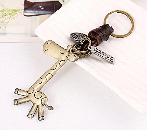 Minigianni Handbag Tote Purse Giraffe Pendant Ornament Charm Elegant Keychain (Pendant Purse)