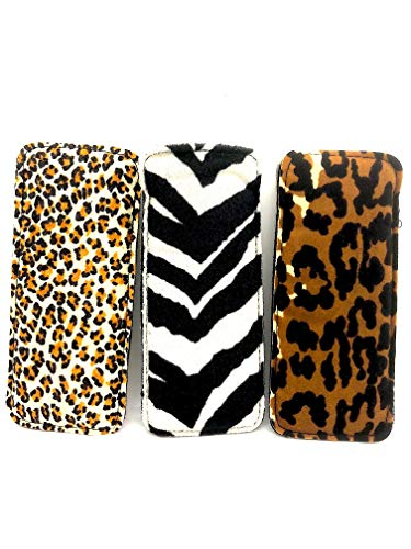 (Exotic Animal Print soft eyeglass pouch 3 pk)
