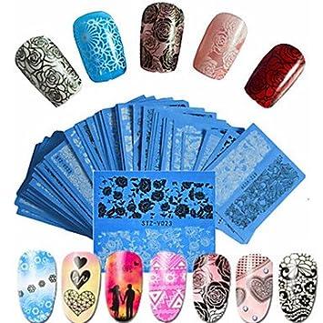 Wzw 48pcsset Hot Fashion Sweet Style Beautiful Lace Nail Water