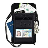 RFID Neck Pouch Travel Pouch Neck Wallet for Women and Men Waterproof Blocking Credit Card Ticket Document Passport Holders Family