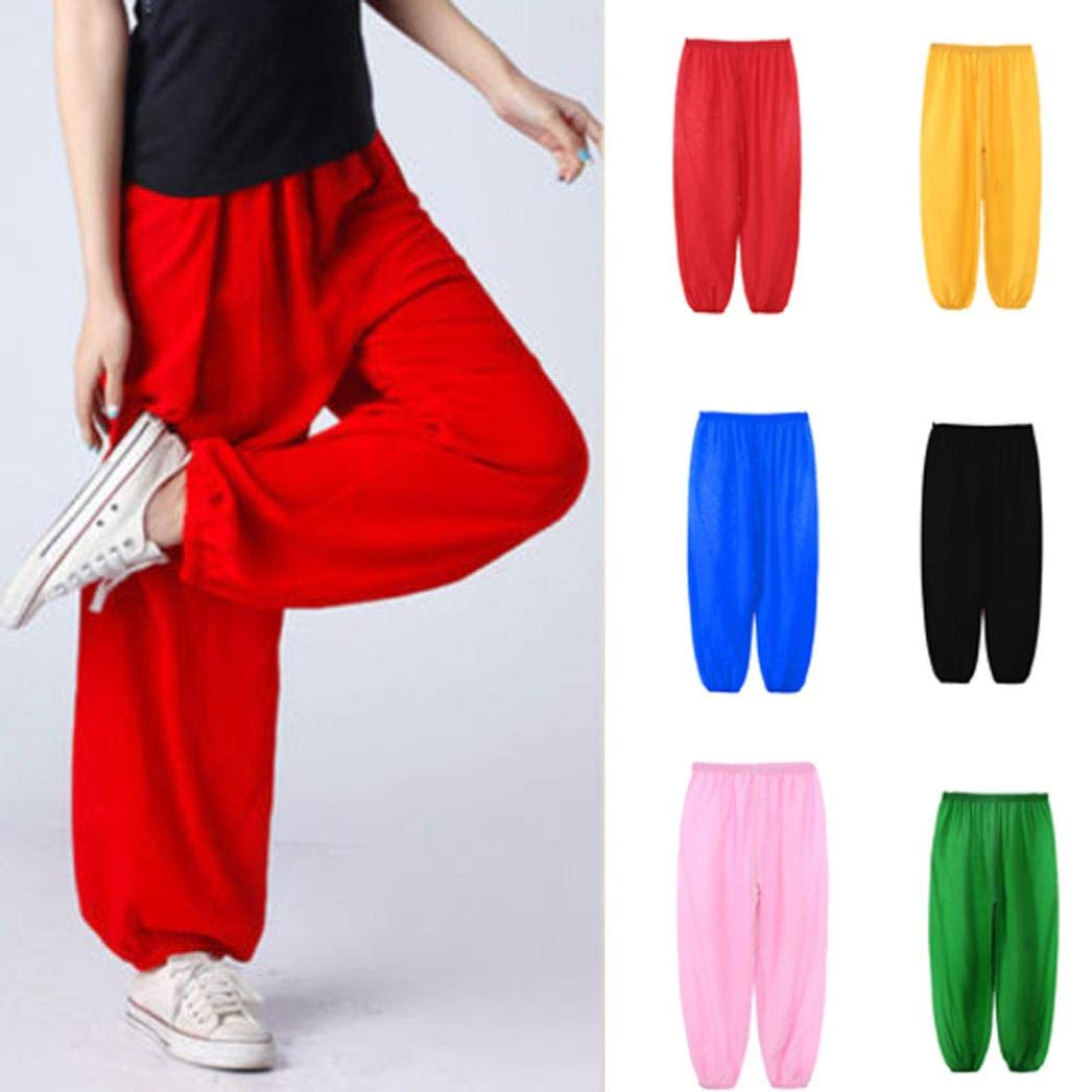 Goodtrade8 Clearance Little Girl Harem Pants Children Boys Kids Baggy Dance Bloomers Trousers Solid Candy Yoga Leggings
