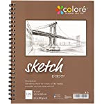 Colore Sketch Pad – Durable Sketching Paper And Notebook Material – Great For Drawing With Colored Pencils – 9×12 Spiral Sketchbook – Perfect Art Book & Craft Supplies Set For Teens & Artists – 1 Pack