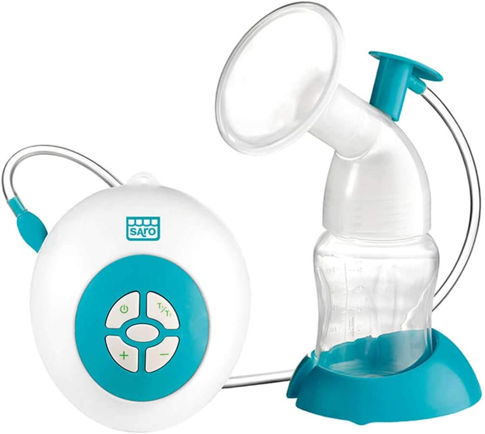 SARO 2610– Extractor eléctrico de leche materna con adaptador de silicona, motor ultrasilencioso y función de succión automática