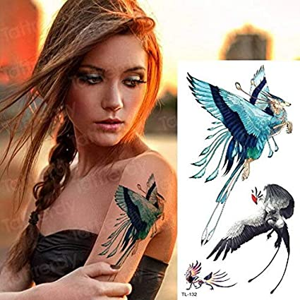 HXMAN 5 Unids Tatuaje Temporal Phoenix Unicornio Fox Tatuaje ...