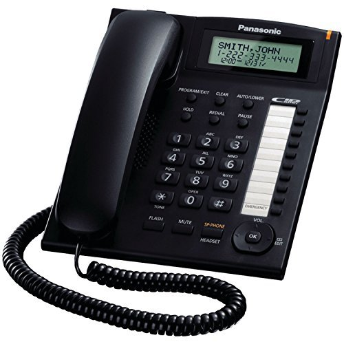 Panasonic KX-TS880B Single-line Corded Integrated Phone System with 10 One-Touch Dialer Stations, ()
