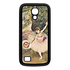 Ballerian Girl 5 by Edgar Degas Black Silicon Rubber Case for Galaxy S4 Mini by Painting Masterpieces + FREE Crystal Clear Screen Protector