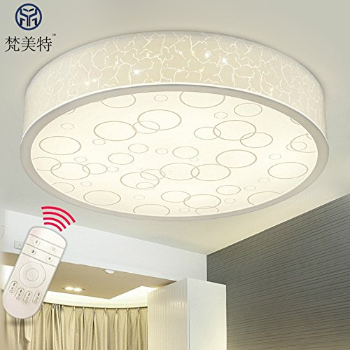 Cttsb Personalized fashion creative modern minimalist ceiling light Bubble Acrylic Round Bedroom Lotto Living Room Study Restaurant, Round 500MM-24W, Warm White