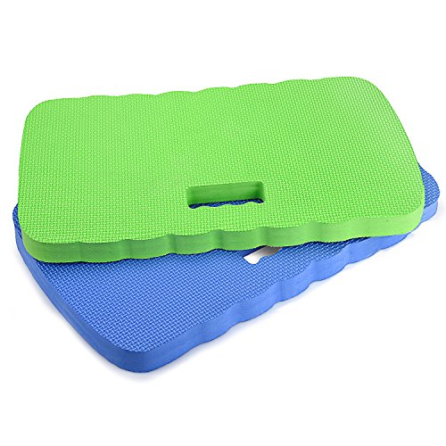 Kneeling Pad,Fitian Knee Protection Garden Kneeler Bath Kneeler Floor Kneeler Yoga Kneeler Mat for Gardening,Baby Bath Tub Bathing,Cleaning,Praying and Exercise(2 Pcs (Cushioned Deck Mat)