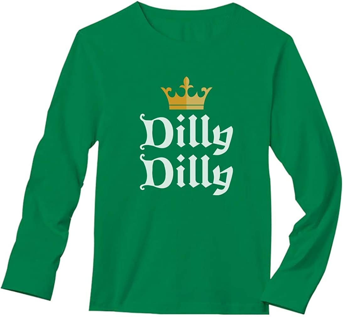 Dilly Dilly St Patrick/'s Day Women/'s Long Sleeve T-Shirt Irish Beer Shamrock