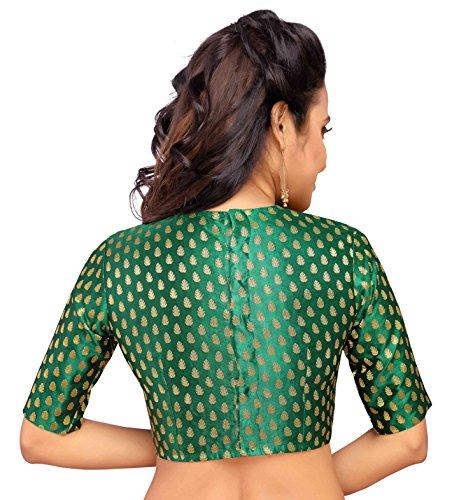 8fefbb32d22df5 Studio Shringaar Women's Brocade & Georgette Blouse: Amazon.in: Clothing &  Accessories