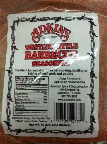 (Adkins Western Style Barbecue Seasoning 16 Oz Bags (Pack of 3))