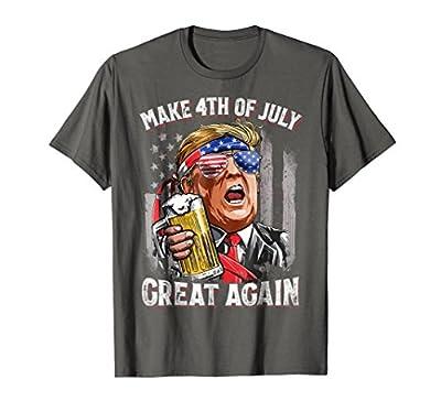Make 4th of July Great Again T shirt Trump Men Women Beer