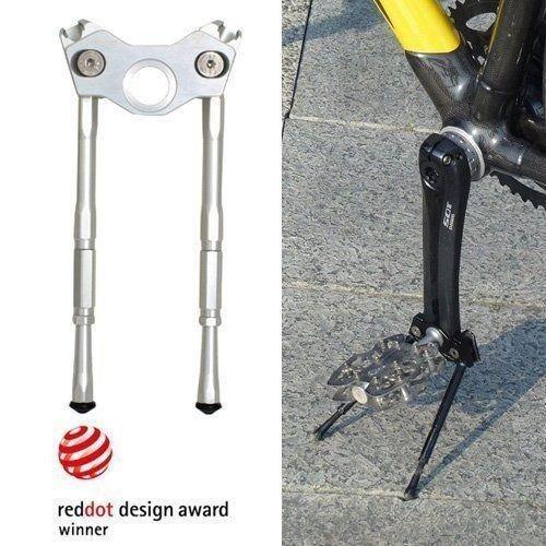 Gearoop自転車自転車CoolStandアルミ調整可能なサイドスティック33 – 39 mm,シルバー B07D6M9Q9Y 19796