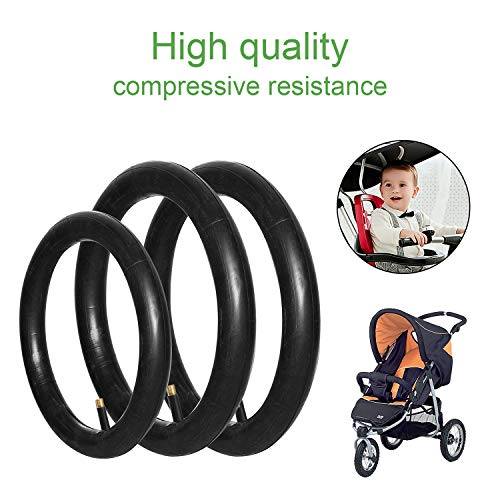 2 Pieces 16'' x 1.75/2.15 Back + 1 Piece 12.5'' x 1.75/2.15 Front Wheel Replacement Inner Tubes Comfitable for BoB Stroller Tire Tube Revolution SE/Pro/Flex/SU/Ironman