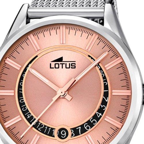 Reloj Lotus hombre estilo retro en acero con correa malla milanesa 15975/3: LOTUS: Amazon.es: Relojes