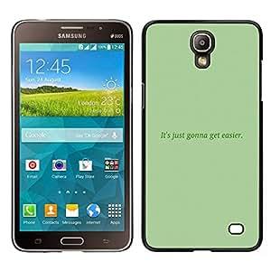 EJOY---Cubierta de la caja de protección para la piel dura ** Samsung Galaxy Mega 2 ** --Mensaje verde musgo texto Inspiring