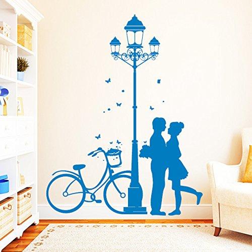 """Wandtattoo Loft """"Straßenlaterne mit mit mit Liebespaar    49 Farben zur Auswahl   schwarz   B00Q4MXSIE Wandtattoos & Wandbilder e85bb1"""