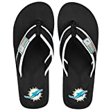 NFL Mens Locker Label Flip Flopmiami Dolphins Mens Locker Label Contour Flip Flop Large, Miami Dolphins, Large