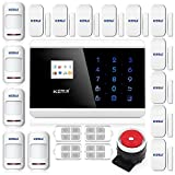 KERUI New Android IOS APP 433Mhz Sensor Dual-network GSM PSTN Sim Call LCD Smart Dislay+Touch Keypad Home Security Voice Burglar Alarm
