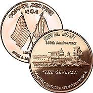 Jig Pro Shop Civil War Series 1 oz .999 Pure Copper Medallion
