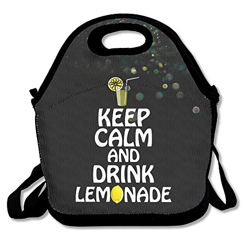 Bakeiy Keep Calm And Drink Lemonde Lunch Tote Bag Lunch Box Neoprene Tote For Kids And Adults For Travel And Picnic (Beyonce Halloween)