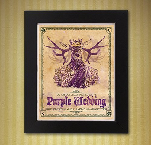 Game Of Thrones Purple Wedding.Amazon Com Game Of Thrones Purple Wedding Invitation 8x10 Print