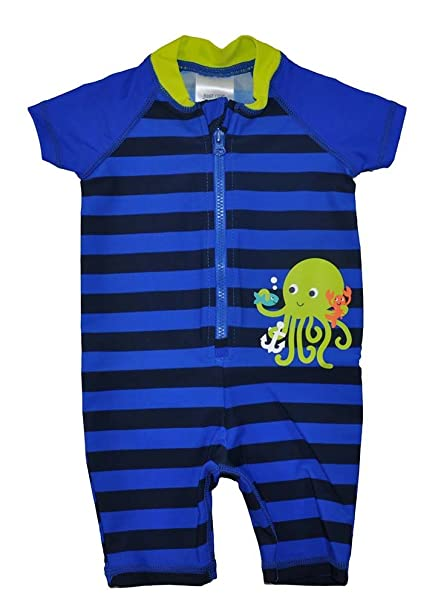d154288b7c Just One Yoy by Carter's Baby Boys Blue Striped One Piece Rashguard  Swimsuit ...