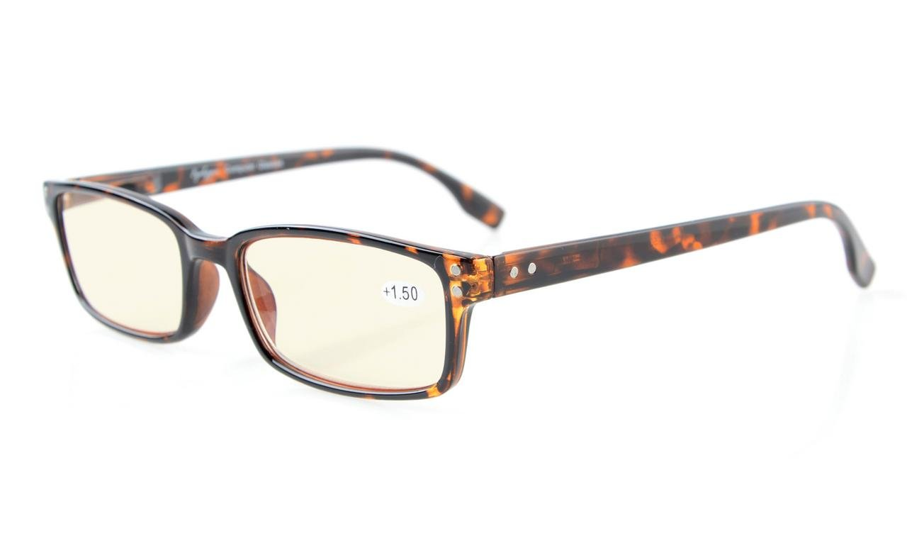 35661d3be2f3 Eyekepper Classical Rectangular Frame Spring-Hinges Computer Reading  Glasses Readers Eyeglasses (Tortoiseshell