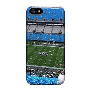 New Snap-on Collect Saving Skin Case Cover Compatible With Iphone 5/5s- Carolina Panthers Stadium