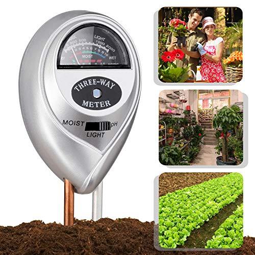 Jellas Soil Moisture Meter - 3 In 1 Soil Tester Plant Moisture Sensor Meter/Light/pH Tester for Home, Garden, Lawn, Farm Promote Plants Healthy Growth - Silver by Jellas (Image #6)