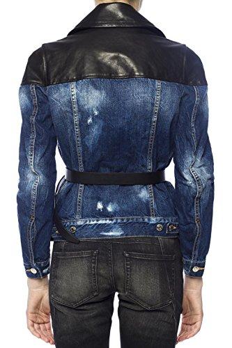Femme Bleu Dsquared2 Coton Blouson S75am0538s30309470 gwqUwdFz