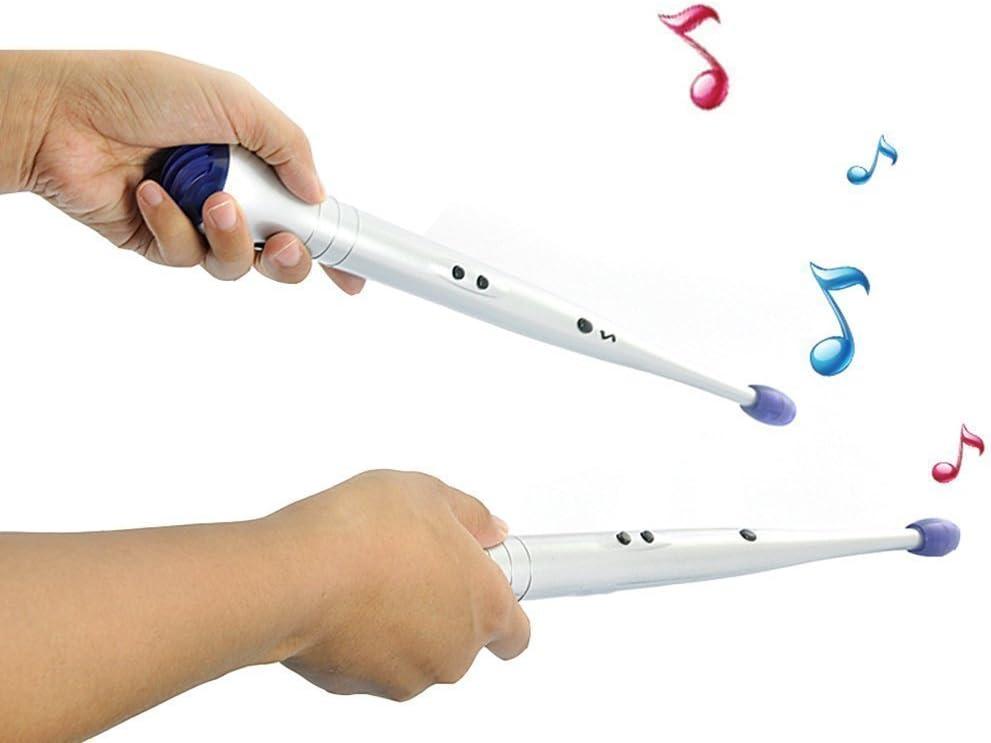 Children Paire de baguettes /électroniques pour tambour /à air Rock Rhythm Beat Percussion Outil pour enfants sans pile