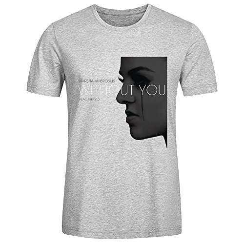 Marsha Ambrosius Without You T Shirts For Men Grey (Girl Named Jack compare prices)