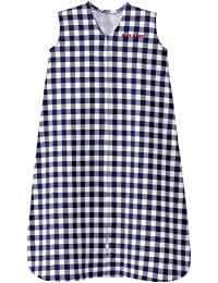 SleepSack, 100% Cotton, Buffalo Check, Navy, Medium