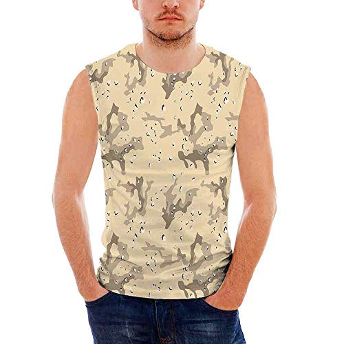 Camo Custom Graphic Tank Tops,U S Armed Forces Background Hiding in The Desert Th