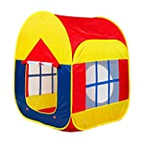 BESUNTEK Children Play Tent Foldable Castle Playhouse for Boys Girls Toddlers Indoor Outdoor Use (Colorful)