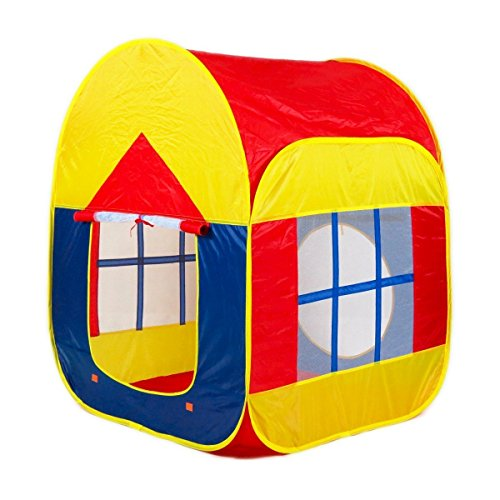 BESUNTEK Children Play Tent Foldable Castle Playhouse for Boys Girls Toddlers Indoor Outdoor Use ()