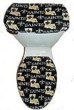NEW ORLEANS SAINTS Fleece Toilet Seat Cover Set