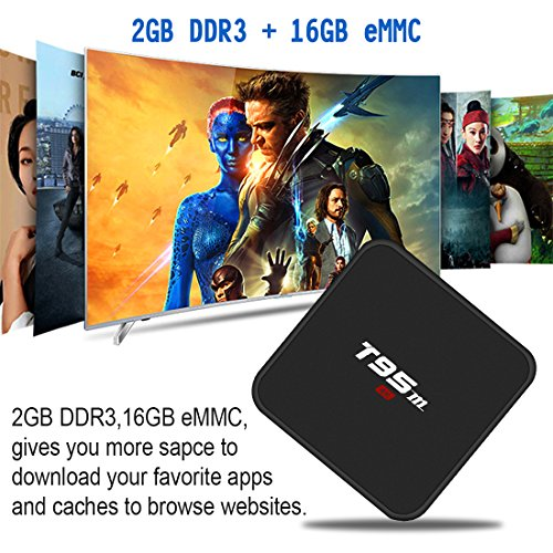 Android 7.1 TV Box, HAOSIHD T95M Smart Internet TV Box with 2GB RAM 16GB ROM, Amlogic S905X Quad Core 64 Bit WiFi Support 4K Full HD by HAOSIHD (Image #2)