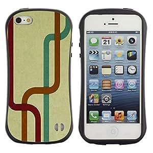 Paccase / Suave TPU GEL Caso Carcasa de Protección Funda para - Labyrinth Tunnel Stripes Map Modern Art Random - Apple Iphone 5 / 5S