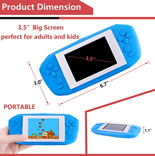Beico Handheld Games for Kids Adults 3.5'' Large Screen Built in 416 Classic Retro Video Games Seniors Electronic Games Consoles Birthday Present (Blue) by Beico (Image #4)
