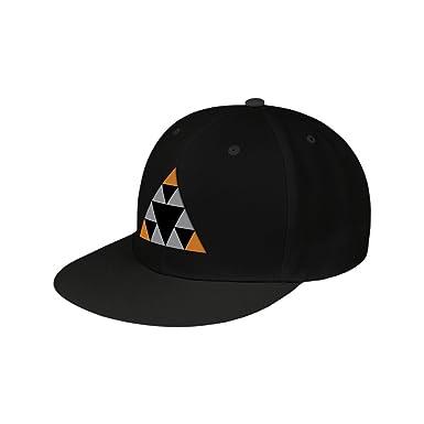 Unisex Deus Ex Mankind Divided Sierpinski Triangles Snapback Baseball Cap, Black, One Size Meroncourt