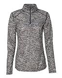 Badger Sport BG4193 Women's Blend 1/4-Zip Pullover Graphite M