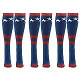 Stars & Stripes Socks, Gmall USA American Flag Soccer & Football Patriotic Athletic Socks