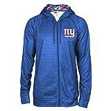 Zubaz NFL New York Giants Male Full Zip Camo Space Dye Hoodie, XX-Large, Blue