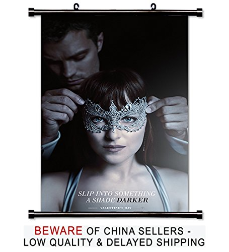 Fifty Shades of Darker 2017 Movie Fabric Wall Scroll Poster (32x51) Inches (Shade Scroll Fabric)