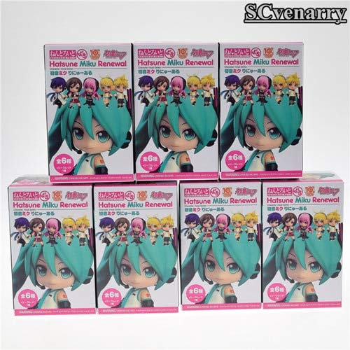 EXTOY 7Pcs/Set Painted Figure Luka Kagamine Rin Len PVC Action Figure Collectible Model Toys Doll Must-Have 2 Year Old Girl Gifts The Favourite 5T Superhero Girls Unboxing Box