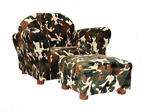 KEET Roundy Kid's Chair with Ottoman, Camo