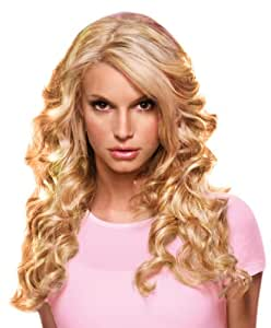 """hairdo from Jessica Simpson and Ken Paves 22"""" Clip-In Extension, Relaxed Curl, Buttered Toast"""